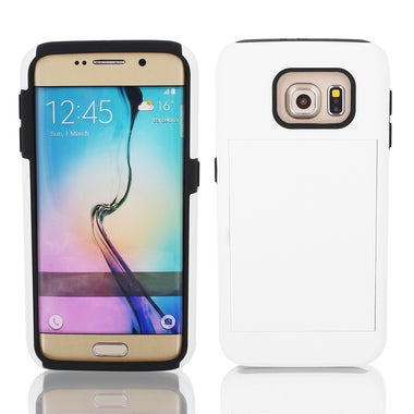 Shock Proof TPU Case Cover Protective White w Stand for Galaxy S6 G9200