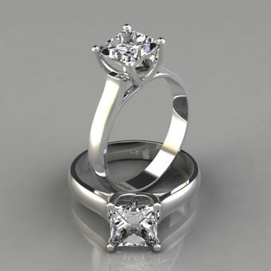 Brilliant 2.0 CT princess cut solitaire Joyau ring