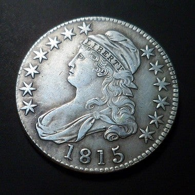 Replica 1815 Capped Bust Silver Plated Half Dollar - Tribute Coin **WOW**