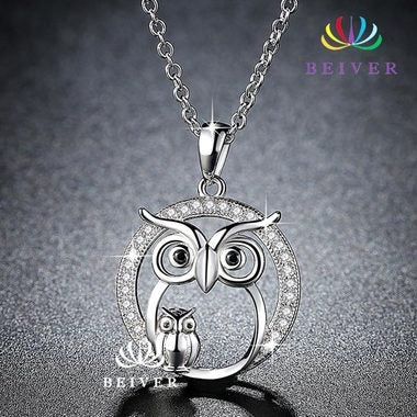 Cute Owl Pendant Necklace parent-offspring Parent and Kid Necklace