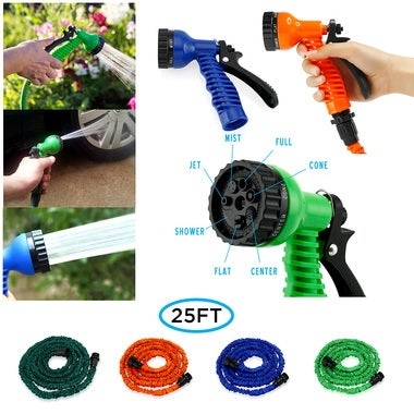 Expandable Garden Hose, Flexible Stronger Deluxe Garden Water Hose with Spray No