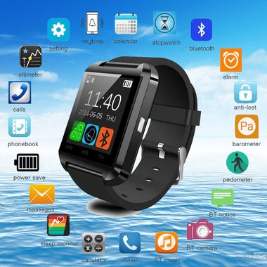 Bluetooth Smart Watch U8 for iPhone IOS Android Smart Phone Wear Clock Wearable