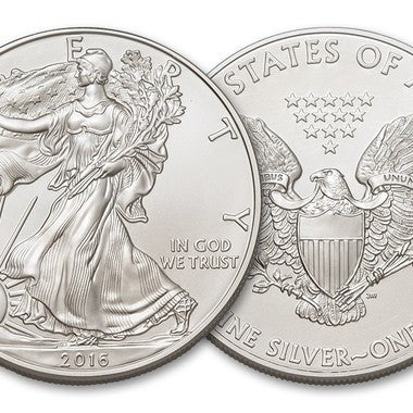1oz pure silver American Eagle Coin