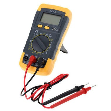 Backlight Black yellow A830L LCD Digital Multimeter DC AC Voltage Diode Freguenc