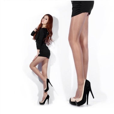 Women Sexy Shiny Stockings Pantyhose Tights Breathable High Socks One Size Sheer