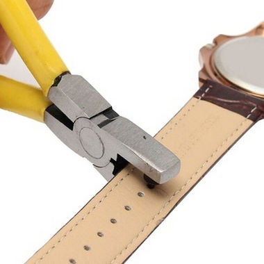 DIY Universal Hand Leather Strap Watch Band Belt Tool Hole Punch Pliers Tools