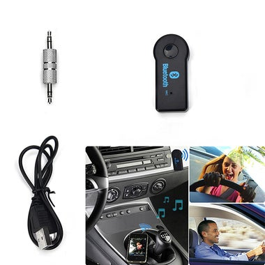 3.5mm Streaming Car Wireless Bluetooth Car Kit AUX Audio Music Receiver Adapter