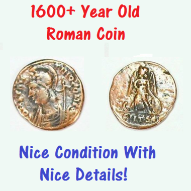AUTHENTIC ANCIENT ROMAN COIN With Nice Details - Over 1600 Years Old - Constanti