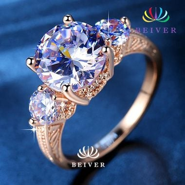 Luxury Rose Gold Filled Engagement ring For Women Size 6 7 8 9