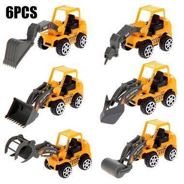 6pcs/lot Engineering Car Toys Lot Vehicle Sets Toys for Children Forklift Engine