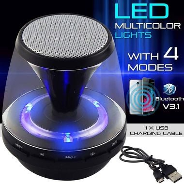 Mini Portable LED Bluetooth Wireless Stereo Speaker for Phone Tablet PC Loud