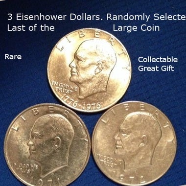 3 Randomly Selected Ike Dollars. Great Collection