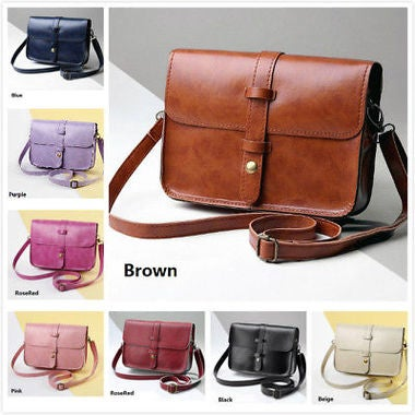Women's Soft PU Leather Vintage Style Shoulder Bag Xmas Gifts 8 Color