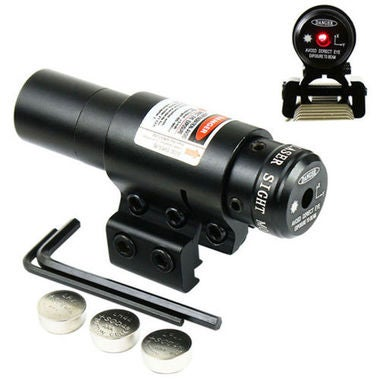 Tactical Airsoft Red Dot Laser sight Scope w/ 20mm Picatinny & 11mm Compact Rail