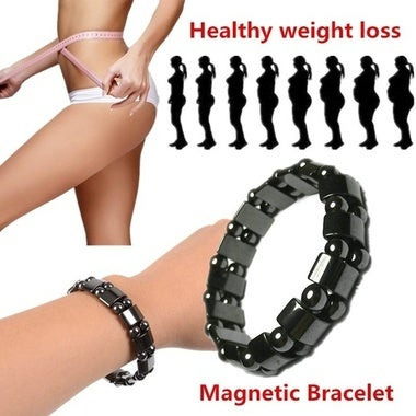 2017 Hot! Biomagnetism Round Black Stone Magnetic Care Weight Loss Bracelet