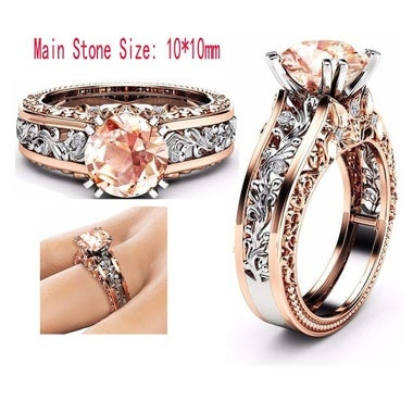 Hot Selling Elegant Women 18K Rose Gold Plated Wedding Engagement Jewelry Party