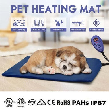 DC12V Waterproof Pet Electric Heat Heating Heated Pad Mat Thermal Heat Protectio