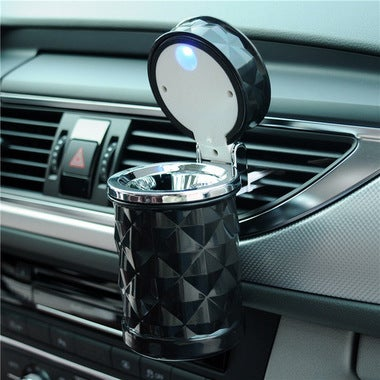 Car Accessories Portable LED Light Car Ashtray Universal Cigarette Cylinder Hol