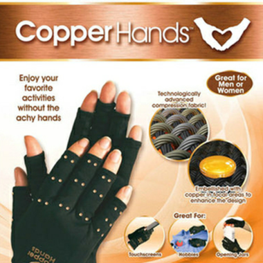 Fiber Sports Health Gloves Half Finger Gloves Promoting Blood Circulation Health