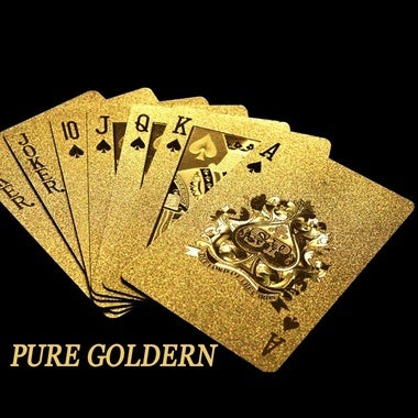 Pure Golden Card Gold Plated Playing Cards Full Per Deck International Standard
