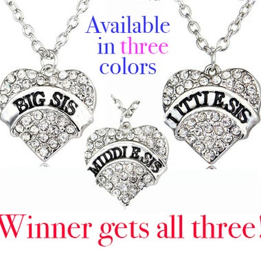 Big Sis Middle Sis Lil Sis Combo Pack - All three!