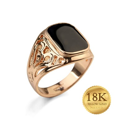 High quality 18K gold Filled Retro Men's ring