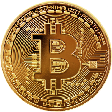 BITCOIN COMMEMORATIVE COIN - GOLD PLATED - NEW IN COLLECTOR'S CASE