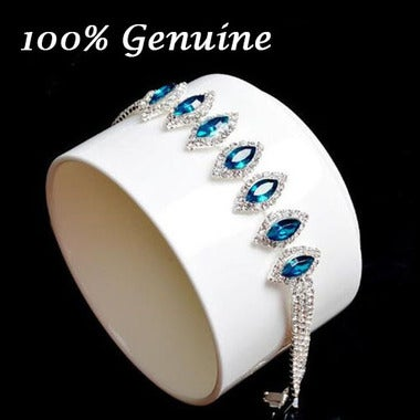 Luxury Blue Crystal Bracelet Tennis Bracelet