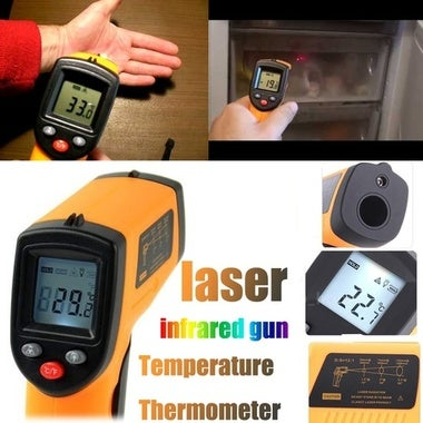 Non-Contact LCD IR Infrared Laser Thermometer Digital Temperature Gun -50-350℃