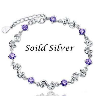 2017 Hot Sale Genuine 925 Sterling Silver Zircon Bracelet