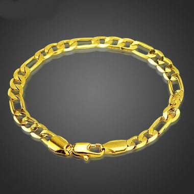 18kt Gold Filled Figaro  Link Bracelet