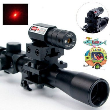 Tactical Red Dot Laser Sight Scope 11mm 20mm Dovetail For Hunting Gun Picardine