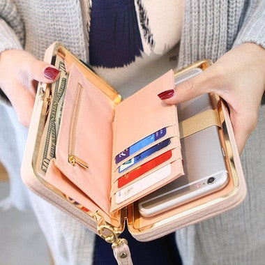 Leather Smartphone Clutch with Magnetic Flap