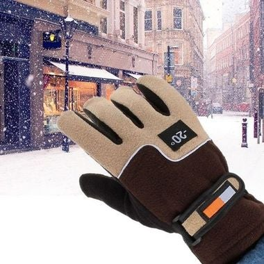 Warm Winter Thicken Bicycle Mitten Thermal Fleece Windproof Rainproof Cycling Gl