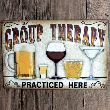 Vintage Signs Beer Metal Plate Painting Wall Poster Decor for Home Bar Poster