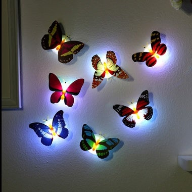 LED night light pat touch light emergency creative butterfly paste lamp small li