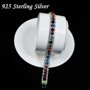 New Luxury AAA crystal sterling silver Bracelets Gift