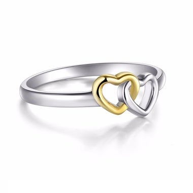 Double Heart Of Love Ring