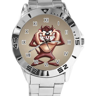 Taz Custom Casual Stainless Steel Band Dress Wrist Watch