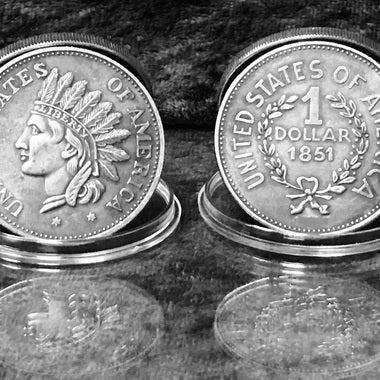 Estate Liquidation: WONT LAST LONG! 1851 Indian Head $1 Token Coin