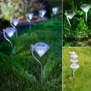 Solar Power LED Bright Energy Saving Waterproof Diamond Light Lawn Lampe --M25