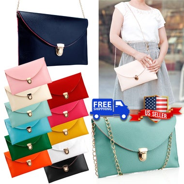 Fashion Women Handbag Shoulder Bags Envelope Clutch Crossbody Satchel Purse Leat