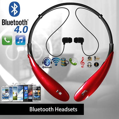 Wireless Stereo Support Bluetooth Neckband Style Headset Sport Headphones