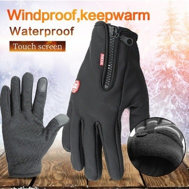 Waterproof Winter Warm Gloves Windproof Outdoor Gloves Thick Warm Mittens Touch