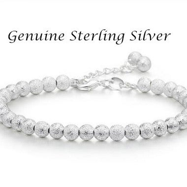 6mm Width Luck Ball 925 Sterling Silver Bracelets