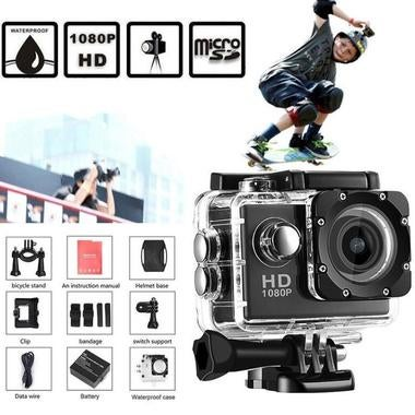 2Inch Mini Waterproof Sports Recorder Car DV Camera Camcorder 1080P Full HD DV m