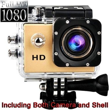 CN GOLD 1080P Sport Camera Diving 30 Meter Waterproof Camera Mini DVR Camcorder