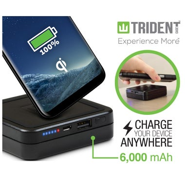 Trident Galaxy S8 / S8 Plus Qi Wireless Charging Pad PLUS 6000 mA/h Backup Batte