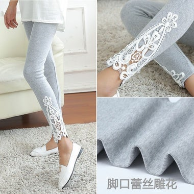 Women Ladies Lace Crochet Sexy Skinny Leggings Stretch Jeggings Pants