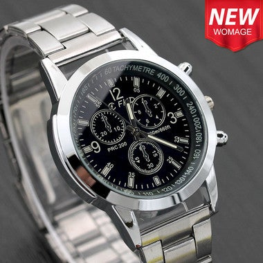 New Men Fashion Watch Hot Brand Casual Luxury Full Stainless Steel Quartz WristW
